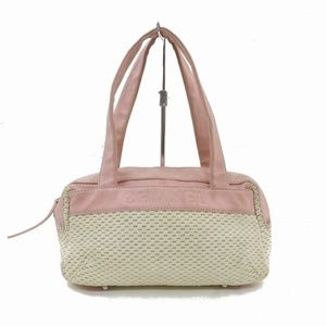 Auth Chanel Hand Bag Pink Canvas #2391C12
